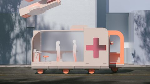 Healthcare concept. IKEA's Space10 has come up with several vehicle concepts designed to illustrate potential AVs in the age when everything is autonomous.