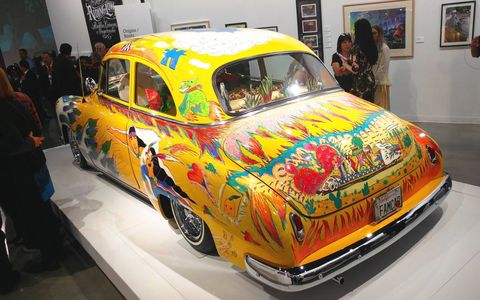 The Petersen Automotive Museum in Los Angeles, CA is full of lowriders of all shapes and sizes with enough wild colors to dazzle just about anybody.