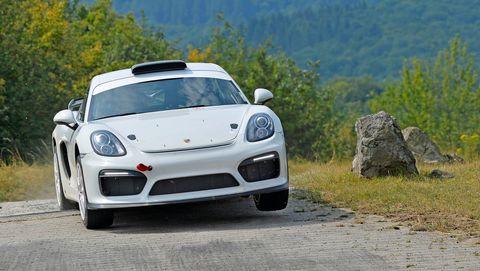 Porsche's Cayman GT4 Clubsport Rally Concept will pace the field at the 2018 ADAC Rallye Deutschland.