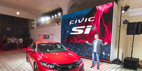 The 2017 Civic Si comes out next year with a 1.5-liter direct-injected, turbocharged four and a six-speed manual transmission.