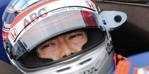 Takuma Sato was a surprising fourth in qualifying for Honda on Friday on Belle Isle.