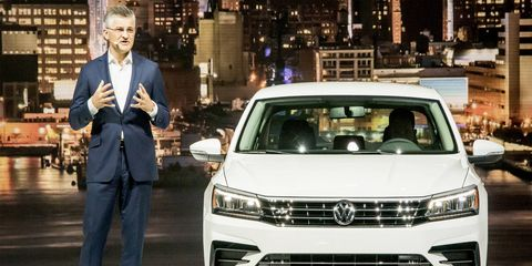 Horn introduced the 2016 Passat in Brooklyn, New York, earlier this week even as the crisis was picking up speed.