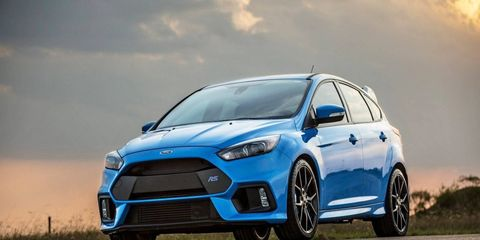 The stock Focus RS already pumps out an eye-watering 350 hp and 350 lb-ft of torque.