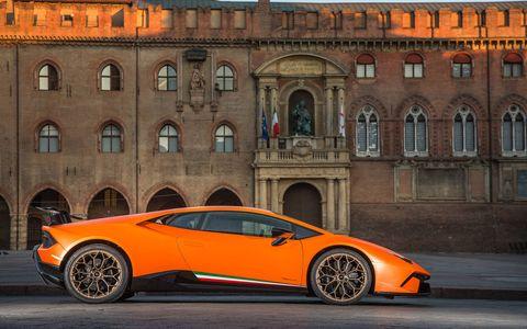 The new Lamborghini Huracan Performante supercar