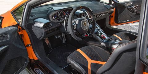 Inside the Lamborghini Huracan Performante supercar