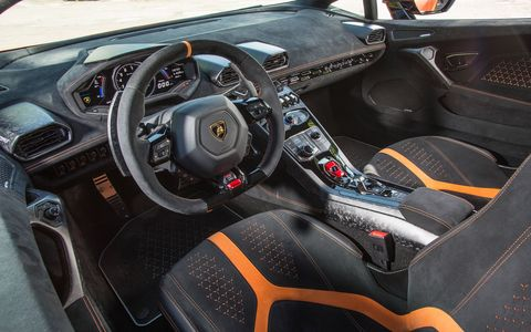 Inside the Lamborghini Huracan Performante supercar
