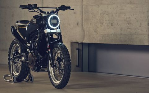 The 401 Svart Pilen is a scrambler from a brand whose dirt legacy is unparalleled.