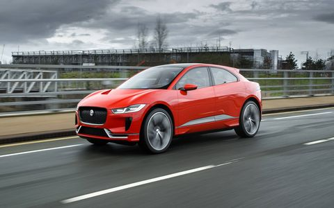 The I-PACE concept previews a compact electric SUV that will enter production next year.