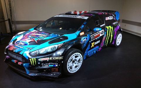 One of Ken Block's Ford Fiesta Hoonigans.