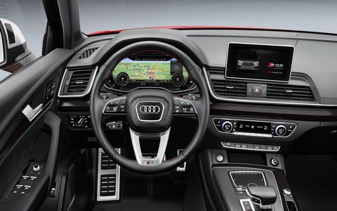 The Audi Virtual Cockpit replaces traditional gauges with a digital screen.