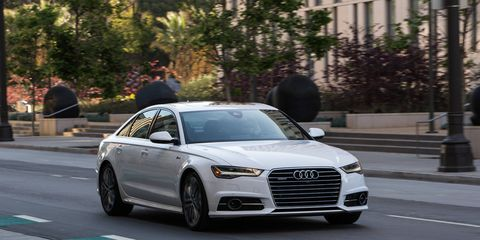 """All A6 variants now come standard with S line exterior styling and 18"""" 10-spoke V-design wheels. The available Sport package offers a 19"""" 10-spoke design wheel and available Black optic package offers 20"""" 5-arm-star design wheel with a black polished finish."""