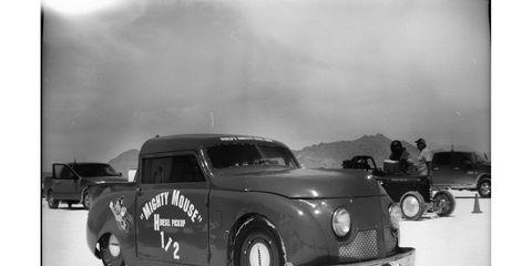 The Salty Frog Racing '47 Crosley has 1,500cc Renault diesel power.