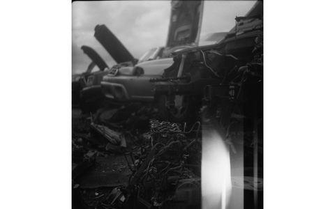 The 1940-vintage Agfa Astigmat lens does a nice job with junkyard engine blocks.