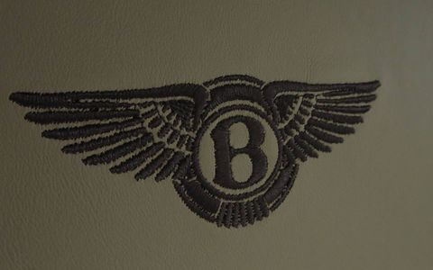 "Because Bentley's philosophy for the Mulsanne is ""Bespoke as Standard,"" you can get a custom logo embroidered on the seat leather, if you prefer that to the Flying B."