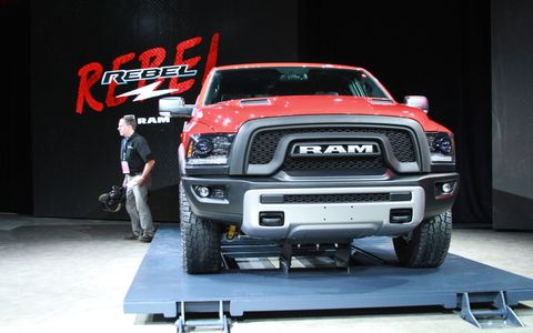 The 2015 Ram 1500 Rebel off-road pickup made its debut at the Detroit auto show.