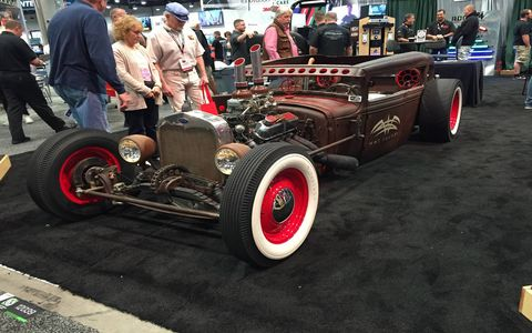 Everything isn't all shiny and new at SEMA, four wheels isn't a requirement either.