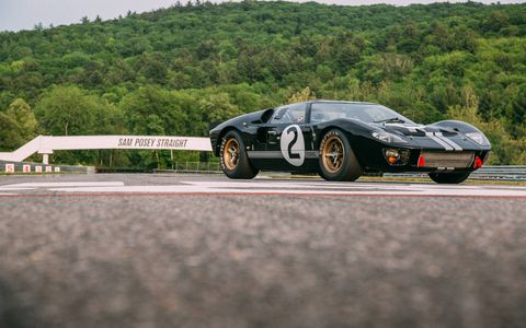 With the 1966 Le Mans winning GT40 chassis p/1046's restoration complete, it returned to the spot that made it legendary.