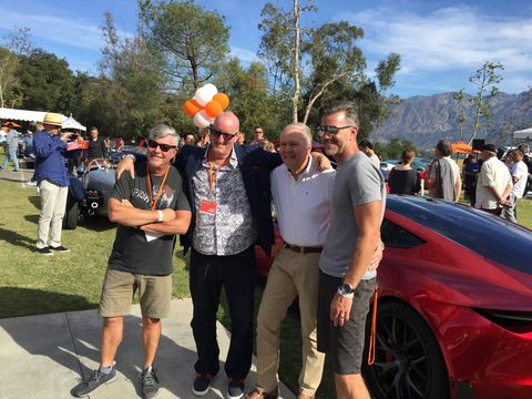 Freeman Thomas, Dave Marek, Pete Brock and Franz von Holzhausen