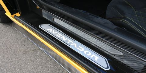 The Lamborghini Aventador S in detail