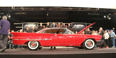 A luxurious 1961 Chrysler 300G was donated to the Barrett-Jackson auction in Scottsdale, Ariz.