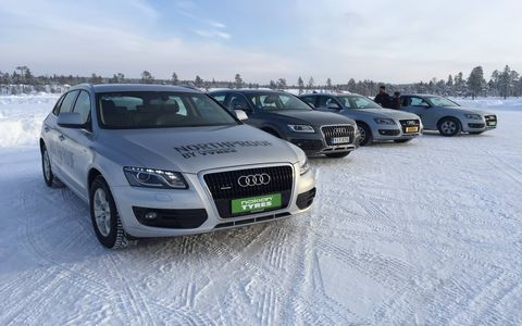Nokian Tyres testing in the Arctic Circle