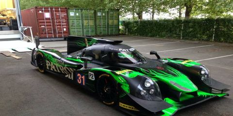The Tequila Patron ESM race team unveiled its two Onroak Automotive Ligier J2 P2 prototype race cars for a test session in France on Monday.
