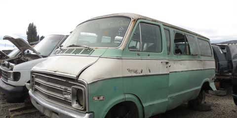 The first Plymouth Voyager was based on the full-sized Dodge Sportsman window van.
