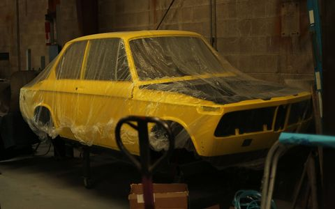 This BMW 2002 Touring is getting the full body-and-paint treatment.