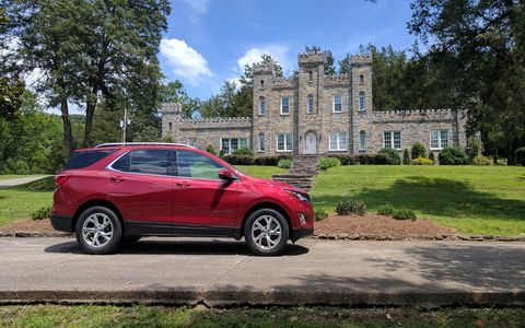 The 2018 Equinox with the 2.0-liter turbo ends up being more expensive than most of the competition, but it's also faster.
