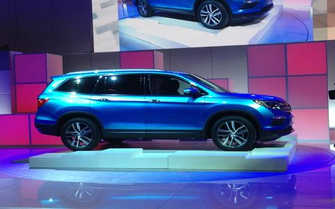 Honda used the Chicago Auto Show to introduce its third-generation Pilot SUV today.
