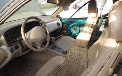 The interior is a bit tattered, but nowhere near beyond restoration.
