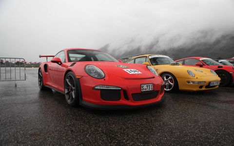 2016 Porsche 911 GT3 RS on the road