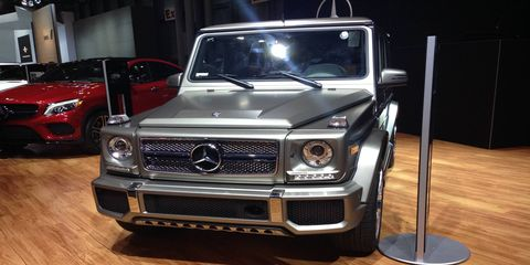 The Mercedes G65 AMG showed off at the New York auto show as the company announced its pending availability in the United States.