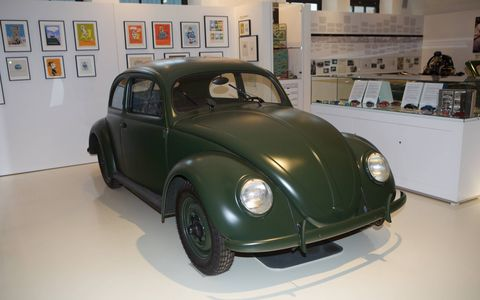 Nearby sits the second oldest 356 in the world, and next to it, resting under a photograph of Ferdinand Porsche, is  the restored chassis and engine of Ferdinand's personal 1937 VW. The body is in advanced stages of restoration and the restored car will be exhibited when finished.