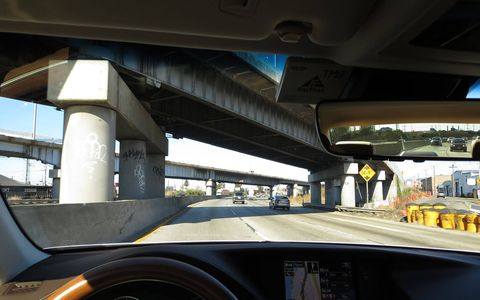 The torture-test stretch of the Nimitz Freeway just south of downtown Oakland is the acid test for a luxury-car suspension.