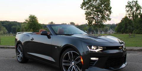 The 2016 Camaro SS Convertible doesn't compromise much performance over the coupe, and putting the top down alleviates some of the visibility pains.