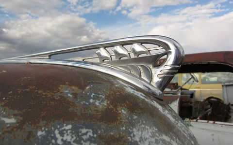 The sailing-ship hood ornament held up well under the harsh Colorado climate.