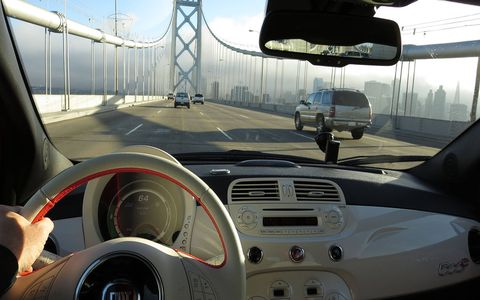It's a good freeway driver, with plenty of electric torque for passing. Here it is heading into San Francisco.
