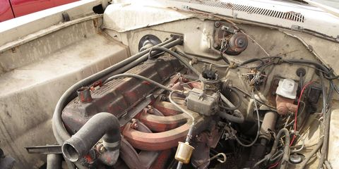 Slant-6 engine in 1968 Plymouth Valiant