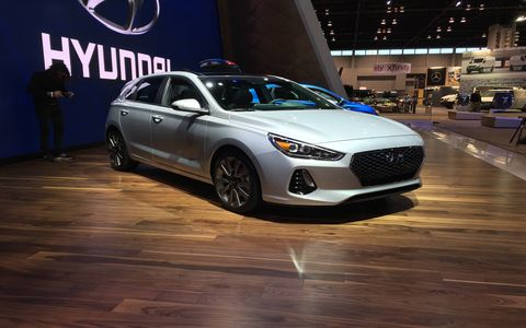 Two inline-four engines will be on the menu when the new hatch goes on sale: a direct-injected 2.0-liter producing 162 hp, paired either with a six-speed manual or an automatic, and a turbocharged 1.6-liter good for 201 hp and 195 lb-ft of torque.