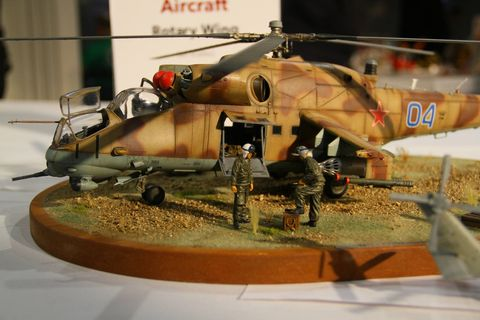 """While all the car models were perhaps our favorites, """"Automotive""""  was just one of the categories at Valley Con. Others included Aircraft, Ships, Armor and Diorama. Here are a few of those."""