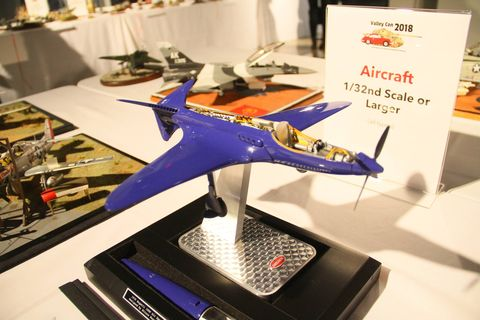 """While all the car models were perhaps our favorites, """"Automotive""""  was just one of the categories at Valley Con. Others included Aircraft, Ships, Armor and Diorama. Here are a few of those. Shown here is a Bugatti 100P."""