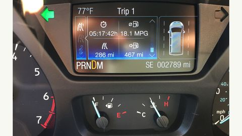 18.1 mpg was the final number recorded at the end of a lightly loaded 4-hour highway journey
