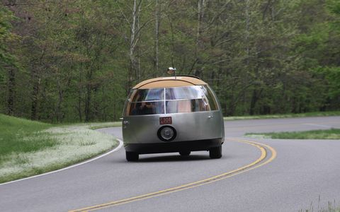 Nashville's Lane Motor Museum graciously gave us the opportunity to drive their recently completed replica of the Buckminster Fuller-designed Dymaxion car. It was a scary, but fascinating, experience.
