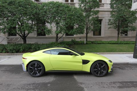 The 2019 Aston Martin Vantage V8 comes with a Mercedes-AMG 4.0-liter twin-turbo V8.