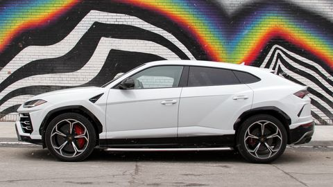 The Lamborghini Urus is a close relative of the Audi Q7, but uses a twin-turbo 4.0-liter V8 for power as opposed to a V6.