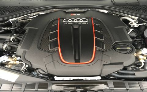 RS 7 performance shares the S8 plus' 4.0-liter V8 and overboost. Top speed is 190 mph.
