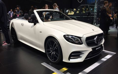 The 2019 Mercedes-AMG 53-series cars get the company's twin-blade radiator grille in silver chrome with a black lattice pattern insert previously reserved for the V8 AMG models.