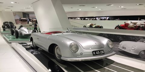 Porsche 356/1, the first 356. This looks better than the subsequent 356s. Is that sacrilege to say?