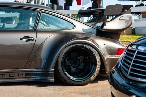 Though sometimes polarizing, it's hard to argue with the bold styling of an RWB-tuned Porsche 911. This one is featured in the show area at Gridlife South at Road Atlanta. (Brooks Metzler 2018)